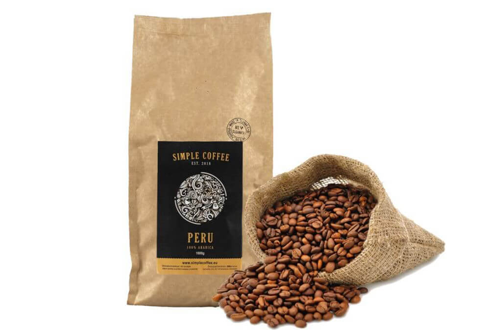 Peru káva - SHB Grade 1 Fairtrade (100% arabica)